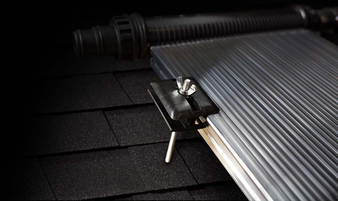 roof mounted solar pool heating